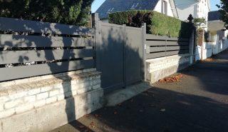 Installation d'un portail battant et clôture à Ouistreham