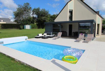 Installation d'une véranda avec piscine Avranches